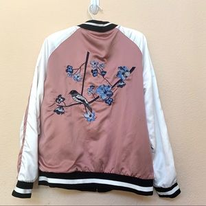 Thread & Supply Pink Reversible Bomber Jacket